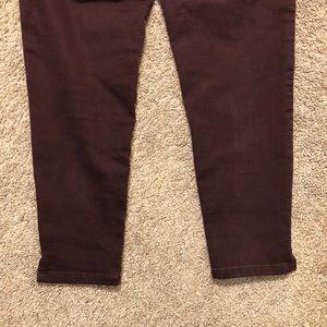Wit & Wisdom Pants - Wit & Wisdom Burgundy Colored Pants
